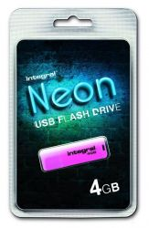 Integral NEON USB 2.0 PENDRIVE 4GB PINK