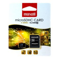 Maxell micro SDHC 8GB X-series cl10 + ad