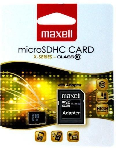 Maxell MICRO SDHC 4GB + ADAPTER CLASS 10