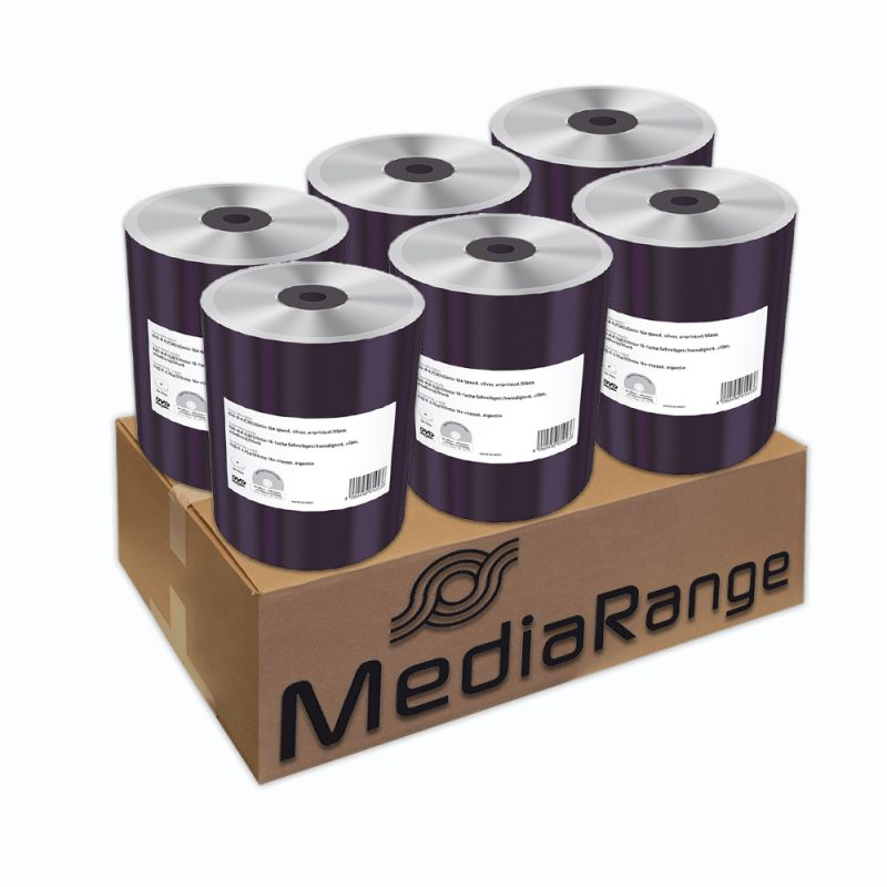 MediaRange DVD-R 16X Shrink (100) /MR422/ XxlDVD csomag 600 db